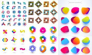 缤纷多彩抽象图形设计元素矢量素材