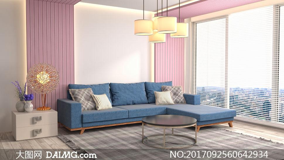 客厅房间家具摆放效果摄影高清图片 - 大图网设计素材