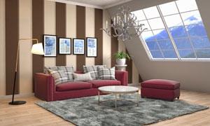 阁楼装饰画与家具陈设摄影高清图片