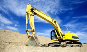 在建设工地上的挖掘机摄影高清图片