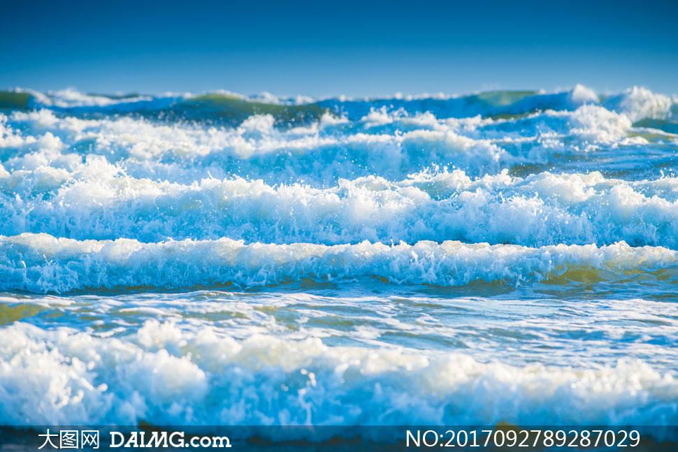 高清图片大图素材摄影自然风景风光海面海景海水大海海浪波浪浪花波涛