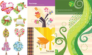 以树木为元素插画创意矢量素材V10