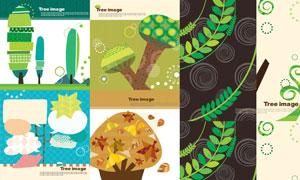 以树木为元素插画创意矢量素材V11