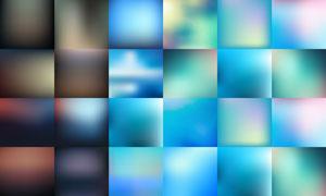朦胧模糊效果背景创意矢量素材V01