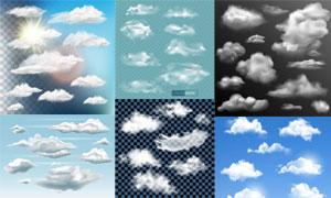 多款逼真效果云朵元素矢量素材V06