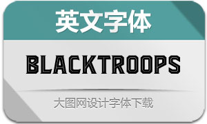 Blacktroops系列四款英文字体