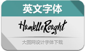 HumblleRought系列五款英文字体