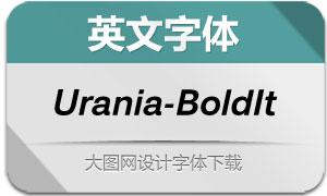 Urania-BoldItalic(英文字体)