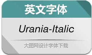 Urania-Italic(英文字体)