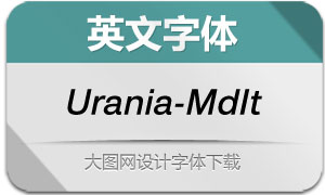 Urania-MediumIt(英文字体)