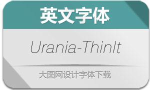 Urania-ThinIt(英文字体)
