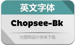 Chopsee-Black(英文字体)