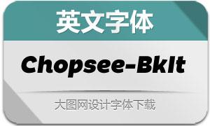 Chopsee-BlackItalic(英文字体)