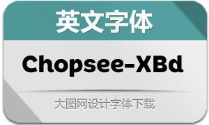 Chopsee-ExtraBold(英文字体)