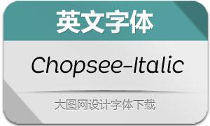 Chopsee-Italic(英文字体)