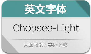 Chopsee-Light(英文字体)