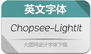Chopsee-LightItalic(英文字体)