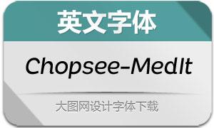 Chopsee-MediumItalic(英文字体)