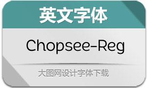 Chopsee-Regular(英文字体)