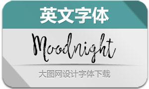 MoodnightScript(英文字体)