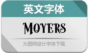 Moyers(英文字体)