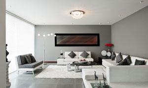 大客厅的内景陈设渲染效果高清图片