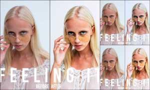 人物皮肤自然肤色艺术效果LR预设