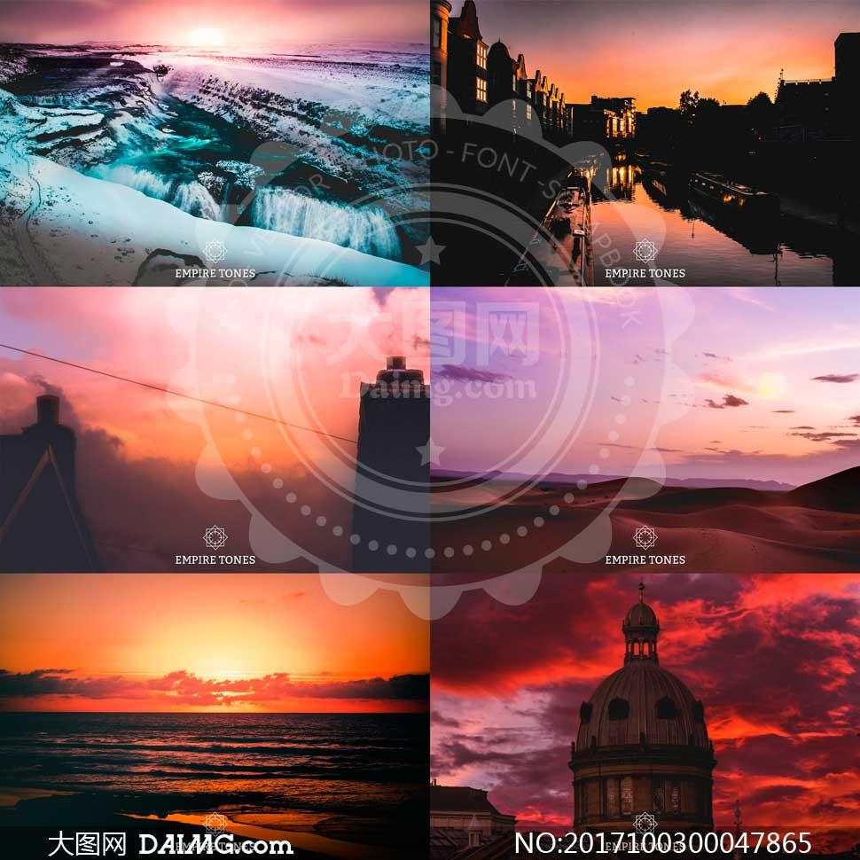 日出和夕阳风光照片后期美化LR预设