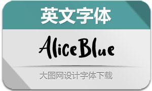 AliceBlue(英文字体)