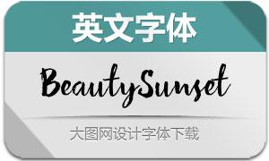 BeautySunset系列四款英文字体