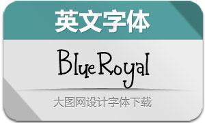 BlueRoyal(英文字体)