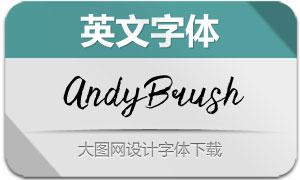 AndyBrushFont-Script(英文字体)