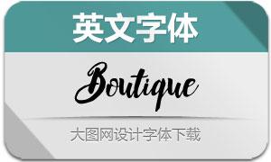 Boutique(英文字体)