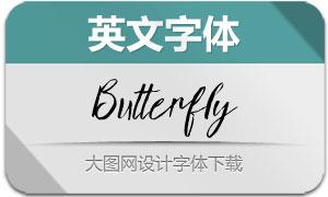 Butterfly(英文字体)