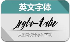 Leyla-Italic(英文字体)