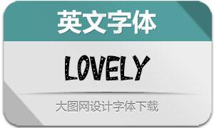 Lovely(英文字体)