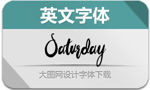 Saturday(英文字体)