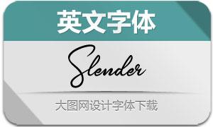 Slender(英文字体)