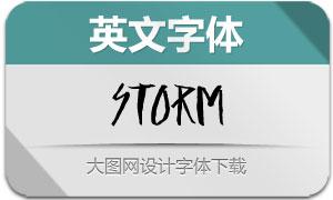 Storm(英文字体)