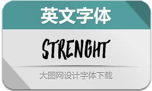 Strenght系列两款英文字体
