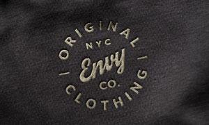 衣物上的针织刺绣标志图案贴图模板