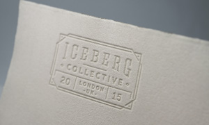 纸上钢印效果标志图案贴图分层模板
