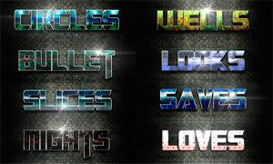 科技风格金属艺术字设计PS样式