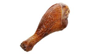 一只香喷喷的鸭腿特写摄影高清图片