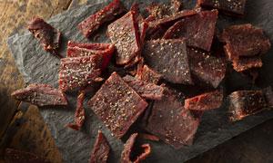 切好了的肉脯美食特写摄影高清图片