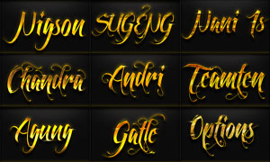 12款黄金质感艺术字设计PS样式V2