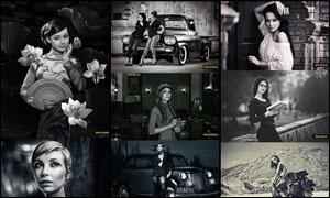 人像后期时尚黑白艺术效果PS动作