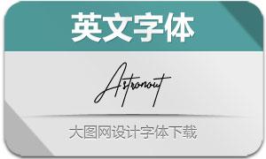 Astronout(英文字体)