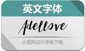 Adellove(英文字体)