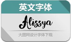 Alissya(英文字体)